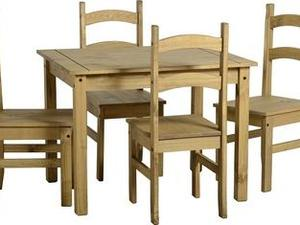 Corona Budget Mexican Dining Set with 4 Chairs in Sandown