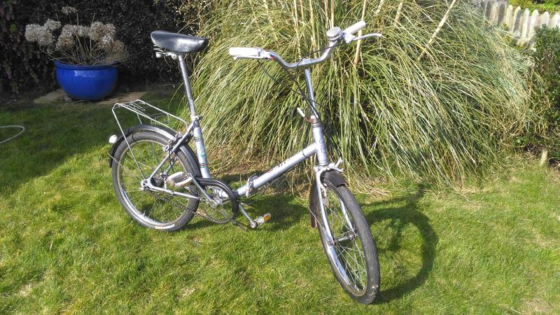 Vintage Folding Bike Made In Western Germany Freshwater Sold