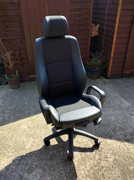 bmw z3 office chair seat. Genuine BMW Half Leather Seat Converted To Office Chair REDUCED Bmw Z3 E