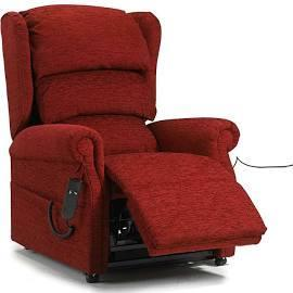 BURGUNDY COLOURED RISER RECLINER CHAIR Shanklin Wightbay