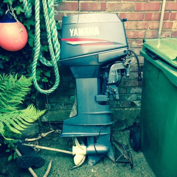 Yamaha 30hp two stroke long shaft outboard in freshwater for Yamaha 30hp 2 stroke