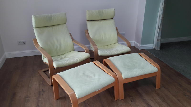 2 x ikea poang chairs in newport sold wightbay. Black Bedroom Furniture Sets. Home Design Ideas