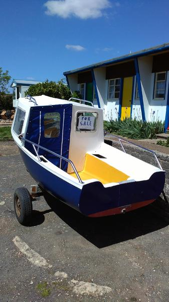 11ft Cabin Fishing Boat No Outboard Price Reduced In