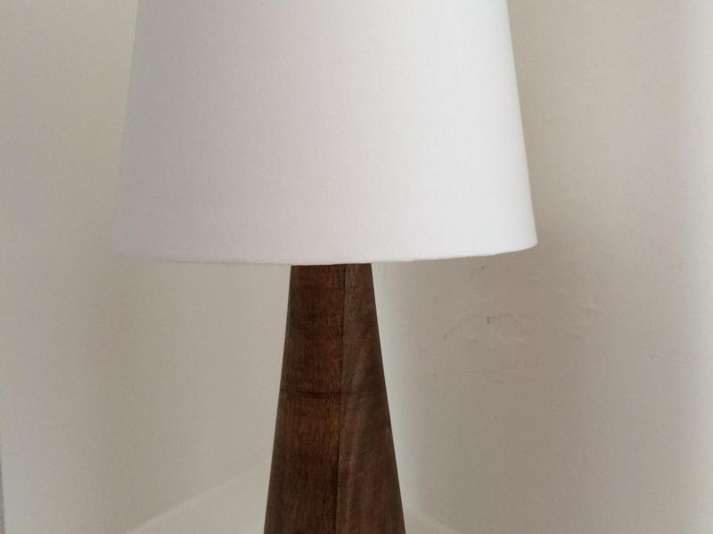 wood base table lamp with white shade ryde wightbay. Black Bedroom Furniture Sets. Home Design Ideas