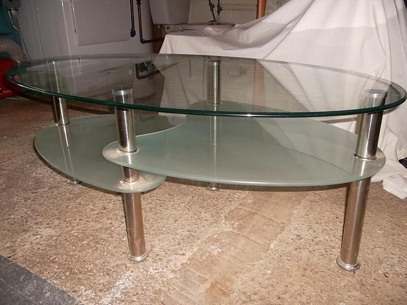 3 Tier Frosted And Clear Glass Coffee Table Newport Wightbay