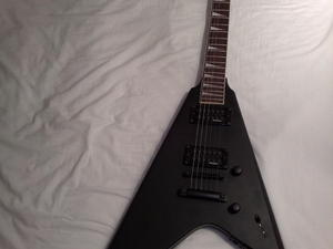 Vintage Metal Axxe Reaper Electric Guitar, Gloss Black