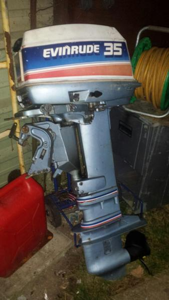 Evinrude 35hp long shaft outboard engine in ryde wightbay for Long shaft trolling motor for sale