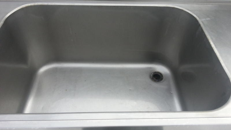 High Quality stainless steel commercial dual sink bench/worktop ...