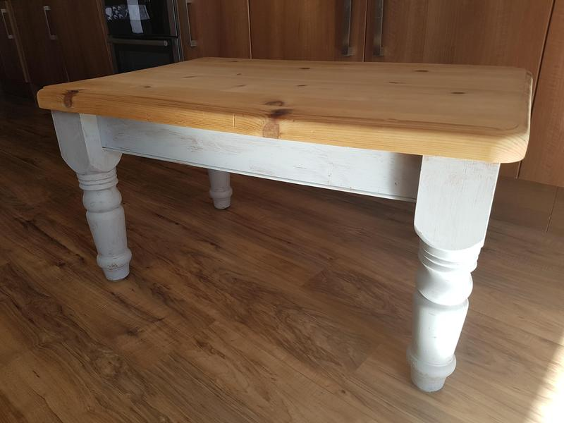 Chunky Pine Coffee Table Freshwater Wightbay