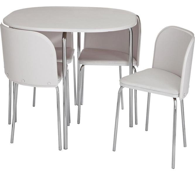 Hygena Amparo Dining Table and 4 Chairs White in Newport  : hygena amparo dining table and 4 chairs white 5459374 1800X600 from www.wightbay.com size 666 x 599 jpeg 23kB