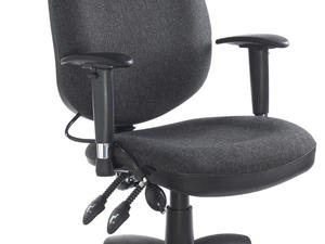 Office Chair with Lumbar support available in Blue or Charcoal in Newport Isle of Wight