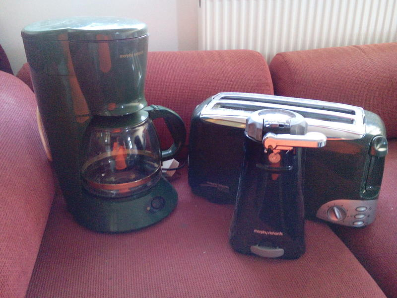Morphy Richards Toaster, Filter Coffee Maker and Electric Can Opener - Newport Wightbay