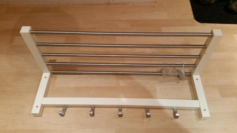 Ikea coat hat rack shelf ventnor sold wightbay for Ikea coat and hat rack
