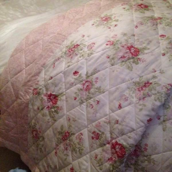 Bed throw , pillow shams and curtains to match ,will fit double or king size bed all from Dunelm ...