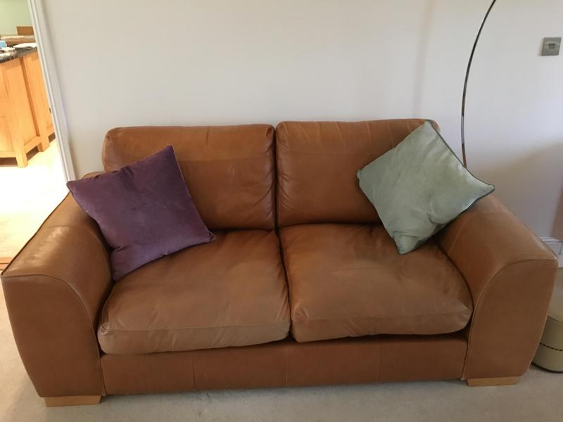 M S Soft Leather Sofa In Cowes Sold Wightbay