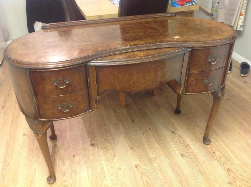 Dark wood dressing table shabby chic vintage in newport
