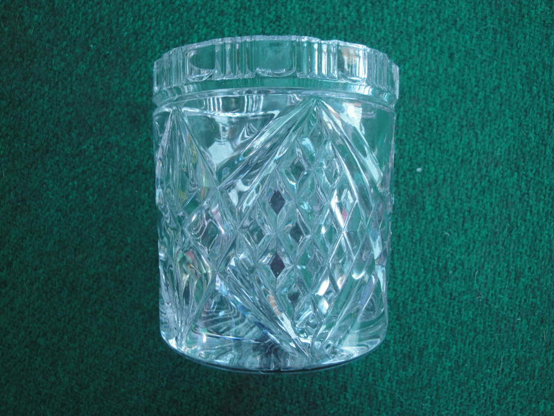 Pretty cut glass container bembridge wightbay How can i cut glass at home