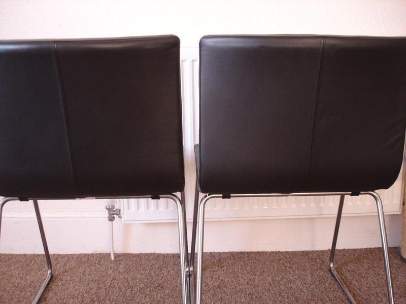 Ikea Leather And Chrome Dining Desk Chair Bembridge Wightbay
