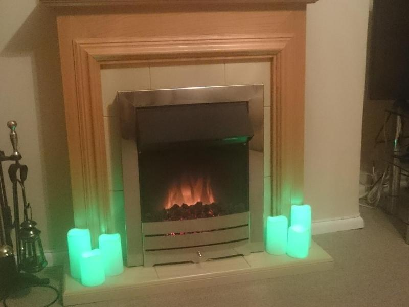 Stunning Electric Fire And Surround Yarmouth Wightbay