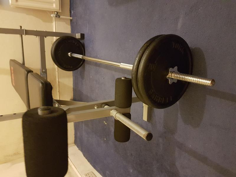 Bench Press And York Barbell For Sale Weights Not Included Sandown Wightbay