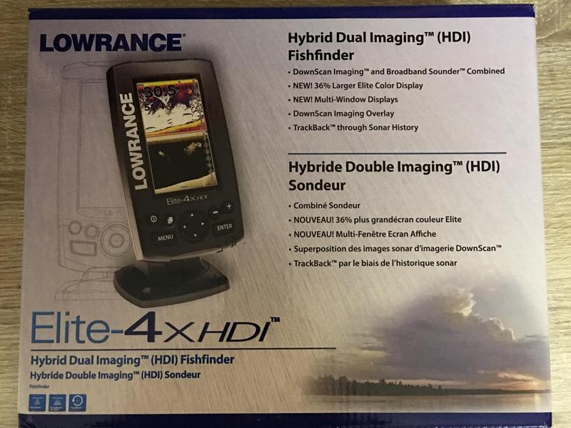 lowrance elite 4x hdi fishfinder complete with down scan transducer ryde sold wightbay. Black Bedroom Furniture Sets. Home Design Ideas