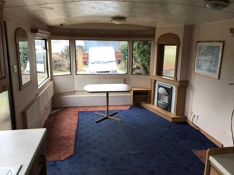 Atlas everglade 35 foot x 10 foot 3 bedroom static caravan for 10 feet by 10 feet bedroom