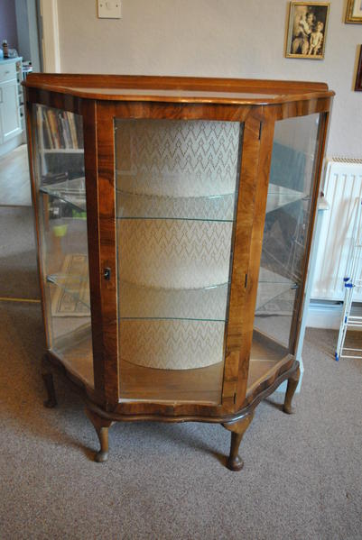Vintage Glass Display Cabinet In Yarmouth - Sold Wightbay - Antique Glass  Display Cabinet Antique Furniture - Antique Glass Display Cabinet Antique Furniture