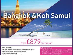 Bangkok & Koh Samui Twin centre holiday from £879pp - Not Just Travel Shanklin Isle of Wight in Shanklin
