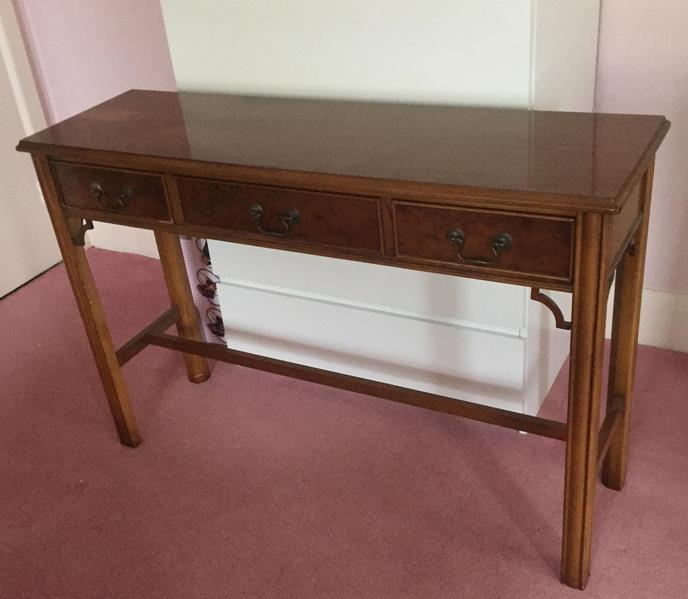 beautiful dark wood console table hall living space in