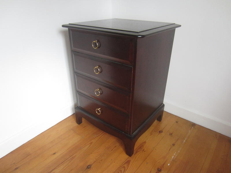 Stag Bedside Cabinet 4 Drawers Sandown Wightbay