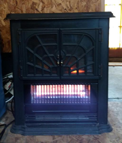 log effect electric fire cowes expired wightbay. Black Bedroom Furniture Sets. Home Design Ideas