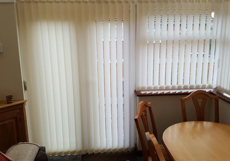 Conservatory Quality Vertical Blinds From Hilarys Blinds