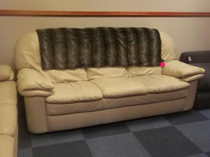 2 Leather sofas £95 EACH in Cowes