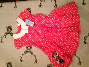 Red gingham school dress age 6