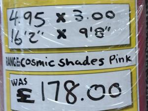 Cosmic Shades Pink 5.95 x 3.00 in Newport Isle of Wight