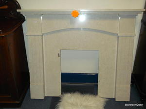 Marble fire surround £95 in Cowes