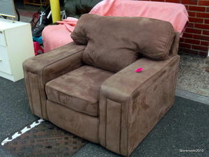 Suede armchair £45 in Cowes