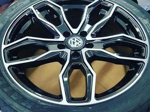 """Brand New 20"""" Turismo Style Black/Polished Alloy Wheels & Tyres 5x120 Fit Volkswagen Transporters in Ventnor"""