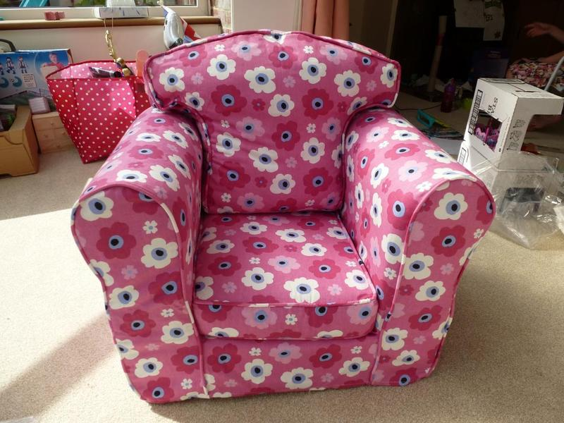 Childs Pink Solid Chair Armchair By JUST4KIDZ With BRAND NEW Cover In  Newport Isle Of Wight